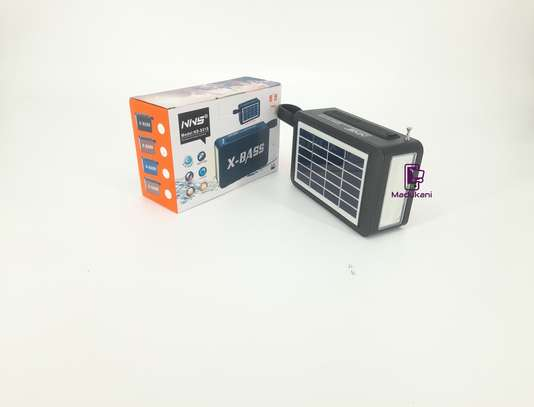 NNS NS-S51S XBASS Bluetooth FM Solar Pocket Radio image 1