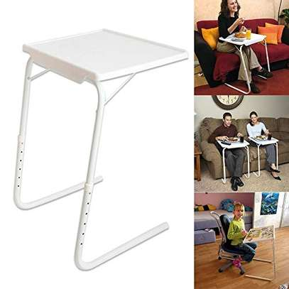 Portable Laptop Table, Side Table Adjustable Height, Coffee Table Laptop Stand Notebook Stand Grooming Table, For Bed, Sofa. image 4