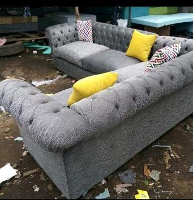 Light Grey Chesterfield image 1