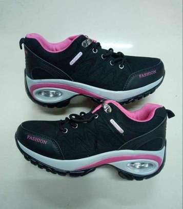ladies fancy laced sneakers image 2
