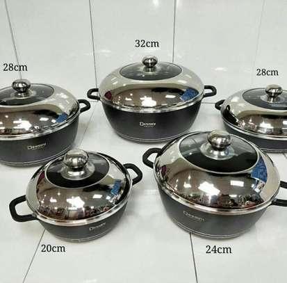 Dessini 10 Pcs Non-Stick Cooking/Serving Pots image 4