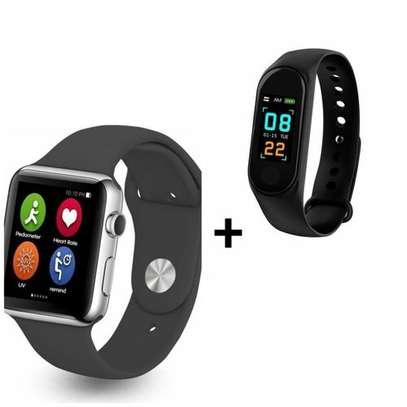 Smartwatch B702 Smart Watch Phone With Free M3 Smart Bracelet image 1