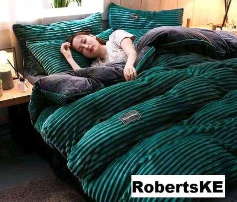 Heavy fleece blankets blue image 1