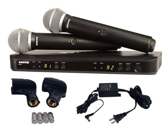 Shure Wireless Blx288/Pg58 Microphones image 1