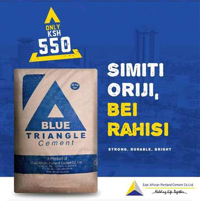 Blue triangle cement image 1