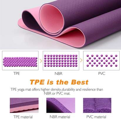 Double sided yoga/exercise mat image 3