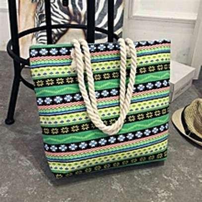 large capacity rope handbag image 8