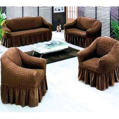 Generic Turkish Made Streachable Sofa Seat Cover 7 Seater 3-2-1-1 image 1