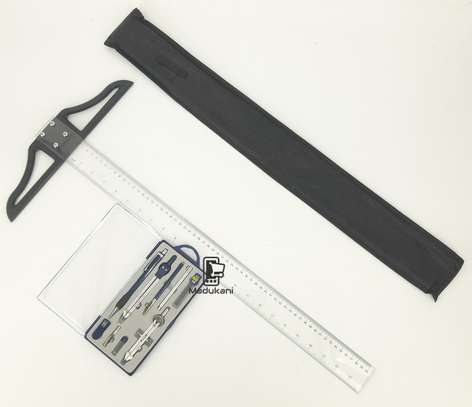 Technical Drawing Set and 60cm 24 inch T Square image 3