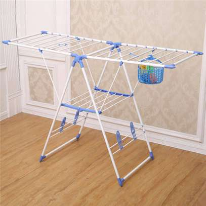 Portable adjustable Drying clothes rack image 2