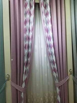 purple curtains image 1