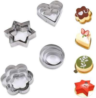 12 Pc Cookie Pastry Fruit Cutters Cutter Set image 1