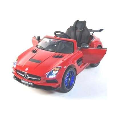 Mercedes Benz- Children Electric Ride-On Car With Remote - Red image 1