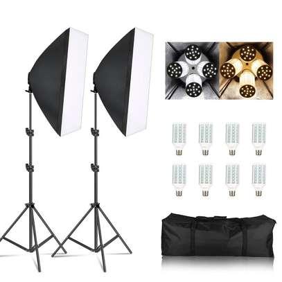 Photo Video Studio Lighting  E27 Lamp Holder Softbox Light Stands image 1