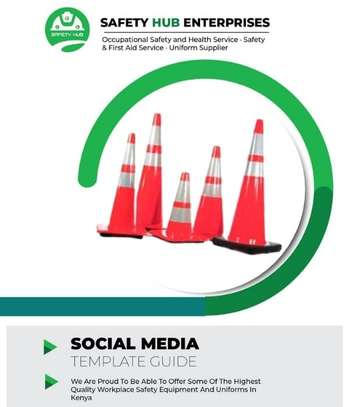 Safety cones/ Road cones for sale image 1
