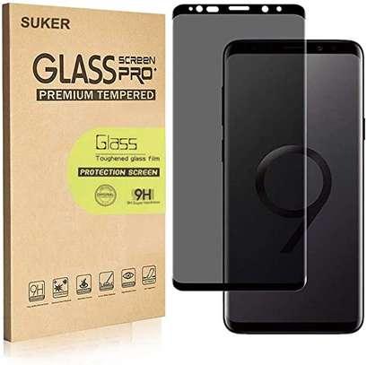 UV Privacy Anti-Spy Anti-Peep NANO Liquid Full Glue Tempered Glass For Samsung Note 9 Note 8 image 1