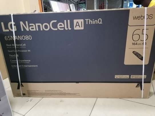 65 Inch lg Nano 80 4k uhd clarity tv image 1