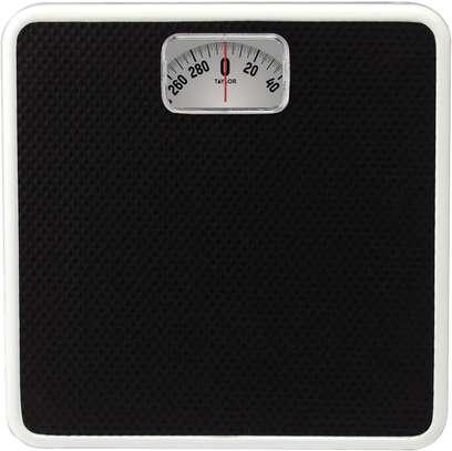 Analog Bath Scale, Solid Steel ,Black image 1