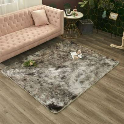 5 by 8 patched Fluffy carpets image 5