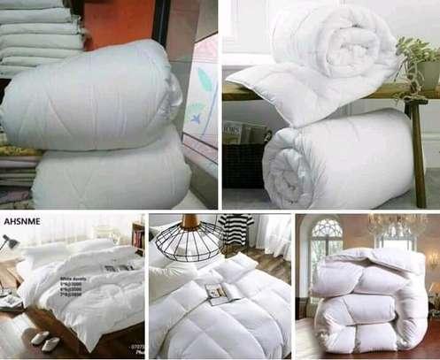 Turkish cotton plain white Duvet image 2