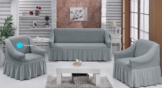 light grey 5 seater sofa cover image 1