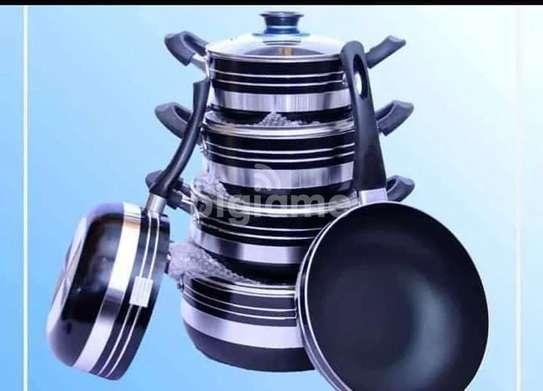 10 Pieces Non Stick Cooking Pots image 1