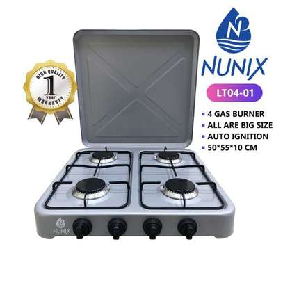 Nunix 4 Gas Burner Table Top Cooker Silver