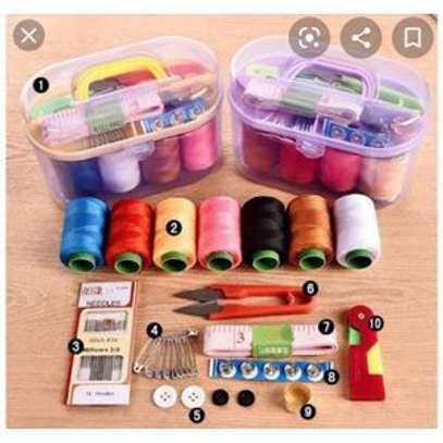 Sewing Box With Sewing Kits  and Sewing Needles Tools image 1