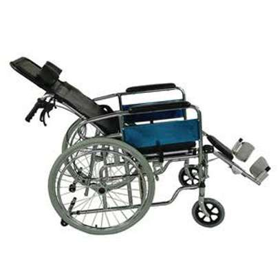 Recliner commode wheelchair image 2