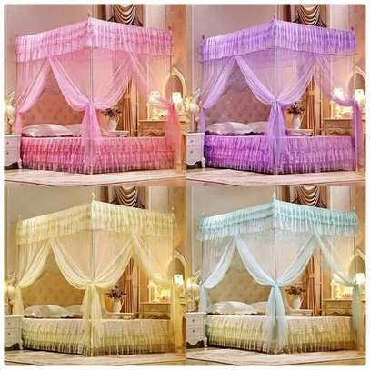 4 stand metallic Mosquito nets available in all colours image 1