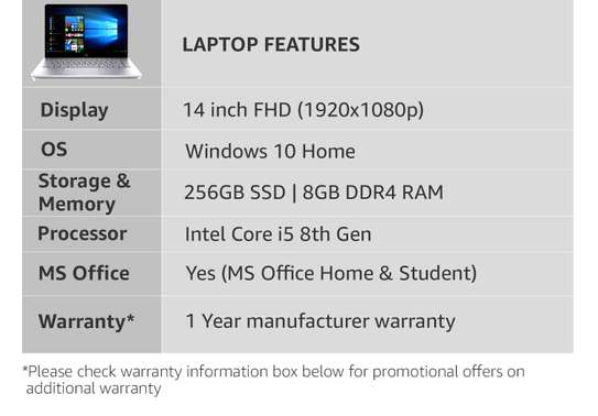 HP 14 Intel Core I5 8th Gen 14-Inch FHD Thin And Light Laptop (8GB/256GB SSD/Windows 10 Home/Silver-14-cf0051od image 3