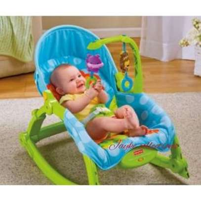 Ibaby Baby Comfort Bouncer Rocker With soothing music and toys-multicolor image 5