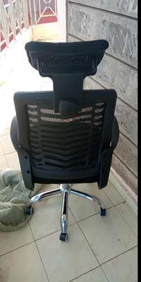 High back multifunctional headrest chair image 1