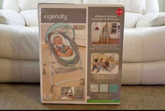 Baby InGenuity 2in1 InReach Mobile convertible lounger & bouncer with wheels & MP3 image 9