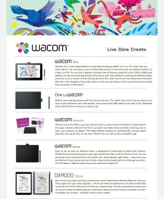 Wacom One  Graphics Tablet. Live.Dare.Create image 1
