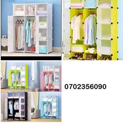 plastic portable wardrobes 3 columns image 9