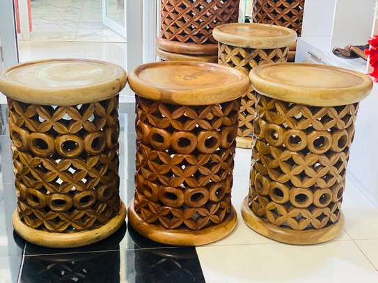 African Coffee Stools and Tables image 1