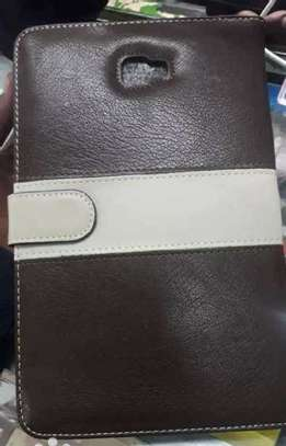 Samsung Logo Leather Book Cover Case With In-Pouch For Samsung Tab A 8.0 inches image 8