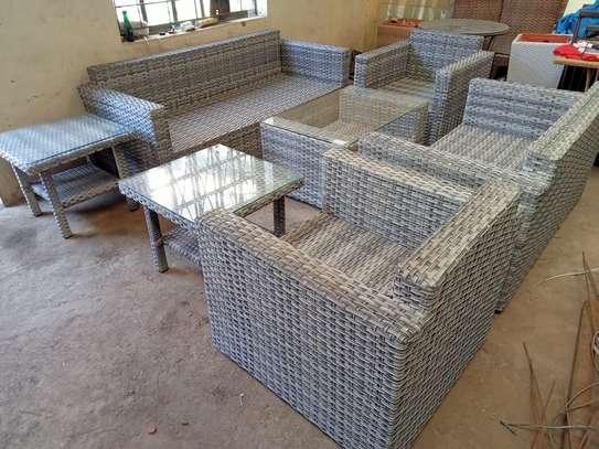 3-seater rattan sofa set image 5