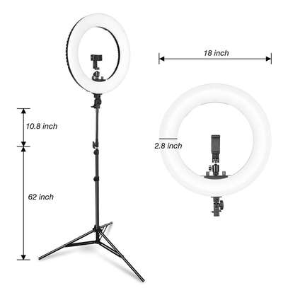LED 18''  Ring Light with Light Stand, Dimmable & Color Temperature image 2
