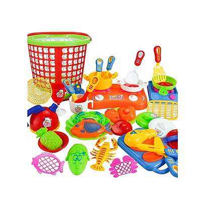 35pcs Plastic Kids Children Kitchen Utensils Food Cooking Pretend Play Toy