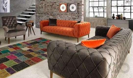 Orange three seater sofas for sale in Nairobi Kenya/Grey three seater sofa/Modern sofas for sale in Nairobi Kenya/Seven seater sofas for sale in Nairobi Kenya/one seater sofa image 1