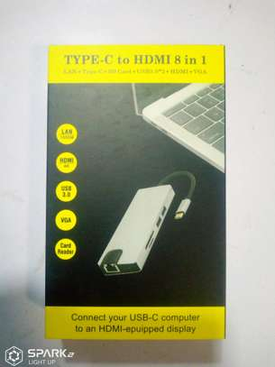 8 in 1 Type C Converter to HDMI, USB,VGa and Ethernet port. image 5