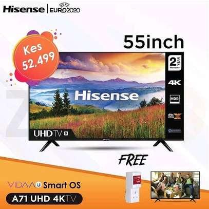 55 Hisense UHD 4K LED TV Frameless - Euro Deals image 1
