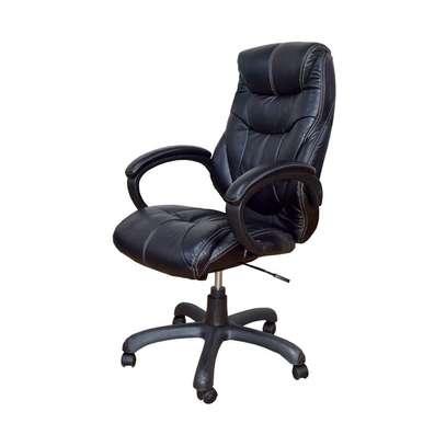 Executive High Back Leather Chairs Nylon Base