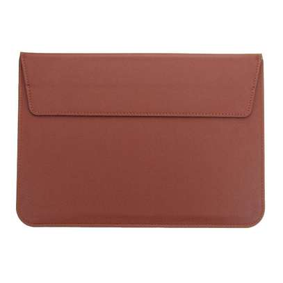 Macbook air/pro/retina Leather Laptop Sleeve Bag For MacBook 15.4inch Dark grey/Brown/Black image 4