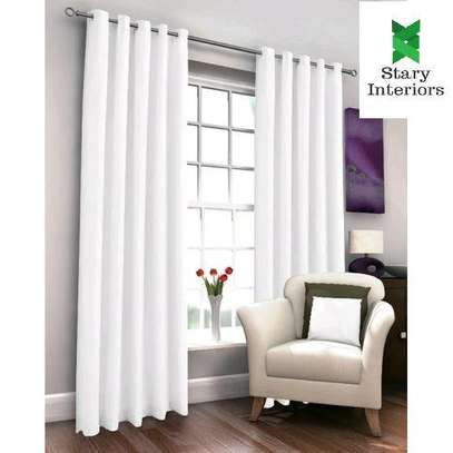 Window curtains WHITE with free sheers