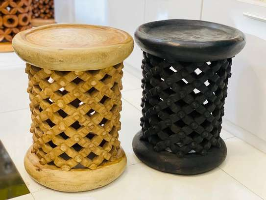 African Coffee Stools and Tables image 3