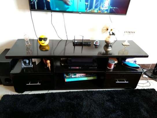 Modern Black TV stand image 1