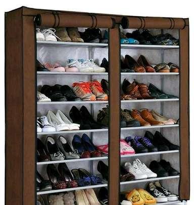 Brown quality shoe racks image 1